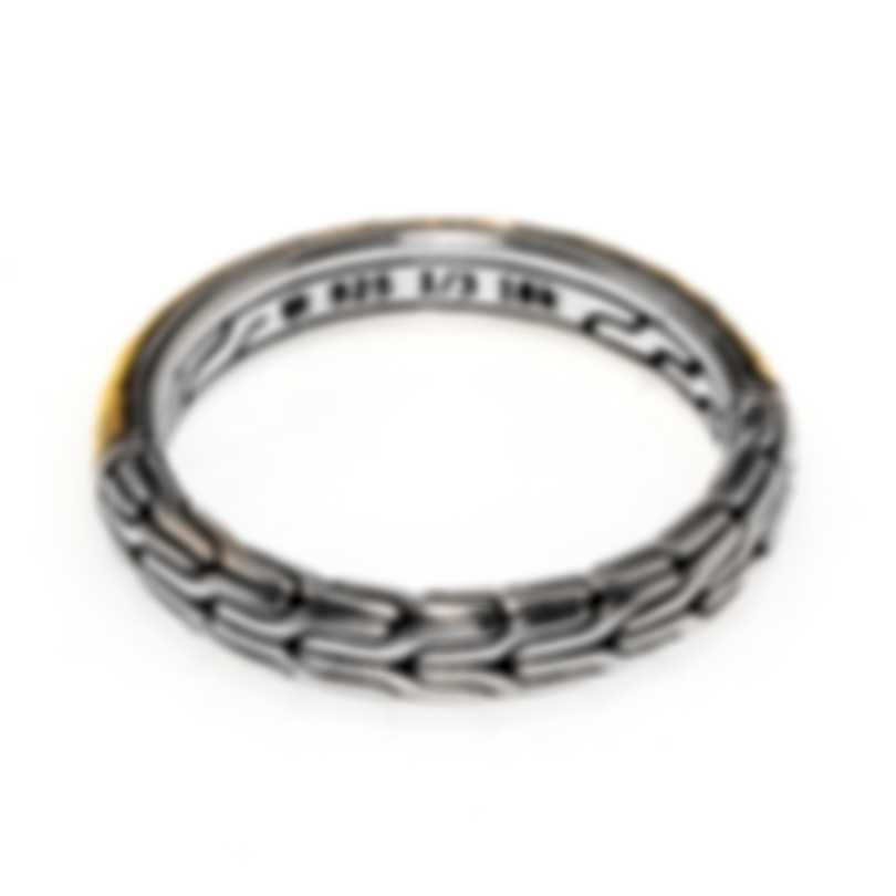 John Hardy Classic Sterling 18k Ring Sz 7 RZ90472X7