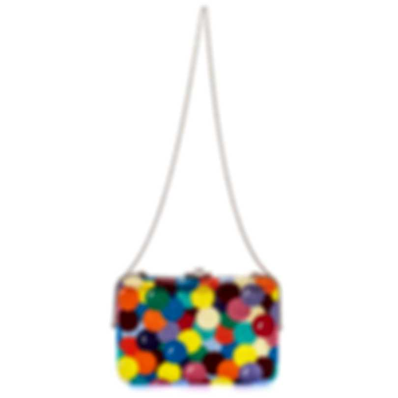 Judith Leiber Slim Slide Gumballs Multi Crystal And Leather Slim Clutch Handbag M190637