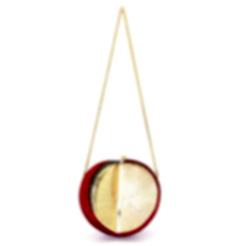 Judith Leiber Snail Shell Polymita Red Crystal Clutch Handbag M31931