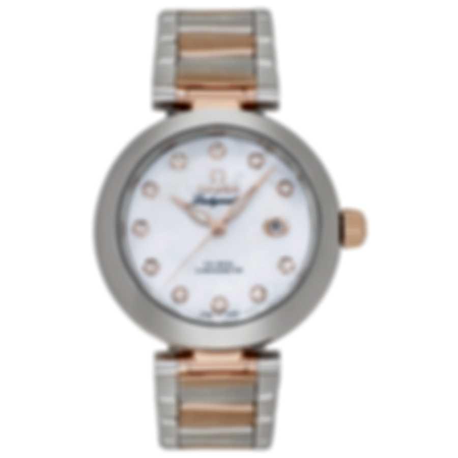Omega De Ville Ladymatic Two Tone Diamond Automatic Ladies Watch 425.20.34.20.55.004