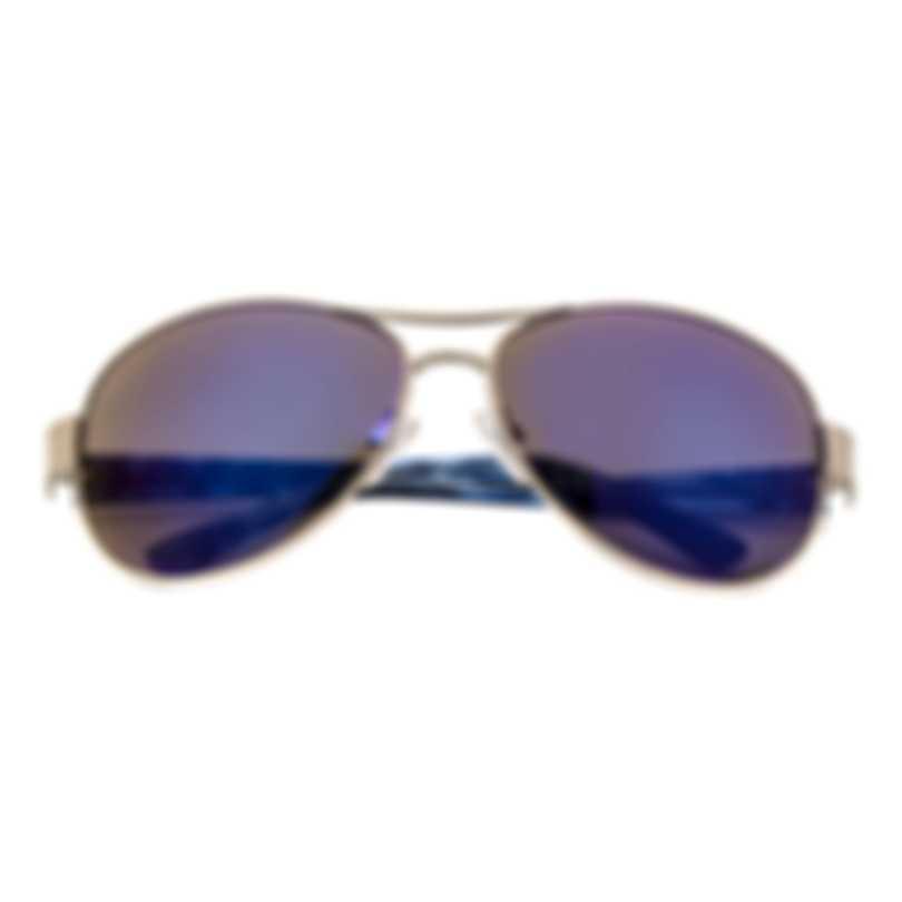 Oscar De La Renta Acetate Silver & Brown Aviator-style Sunglasses SSC4034-045