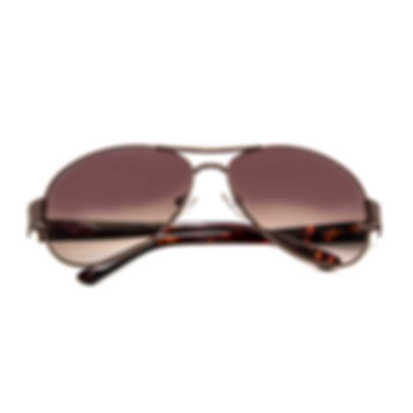 Oscar De La Renta Acetate Shiny Brown Aviator-style Sunglasses SSC4034-200