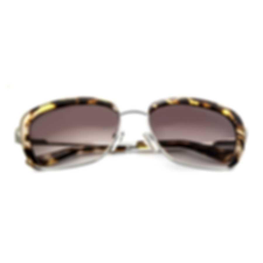Oscar De La Renta Acetate Silver & Brown Cat Eye Sunglasses SSC4040CEI-045