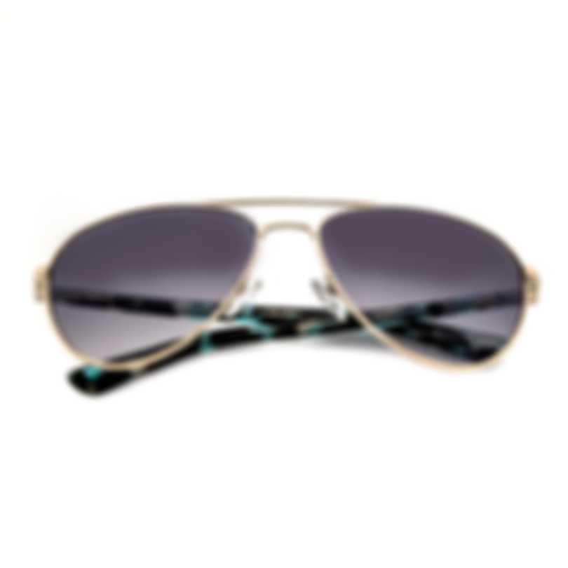 Oscar De La Renta Acetate Aqua Gold Grey Aviator-style Sunglasses SSC4041CE-450