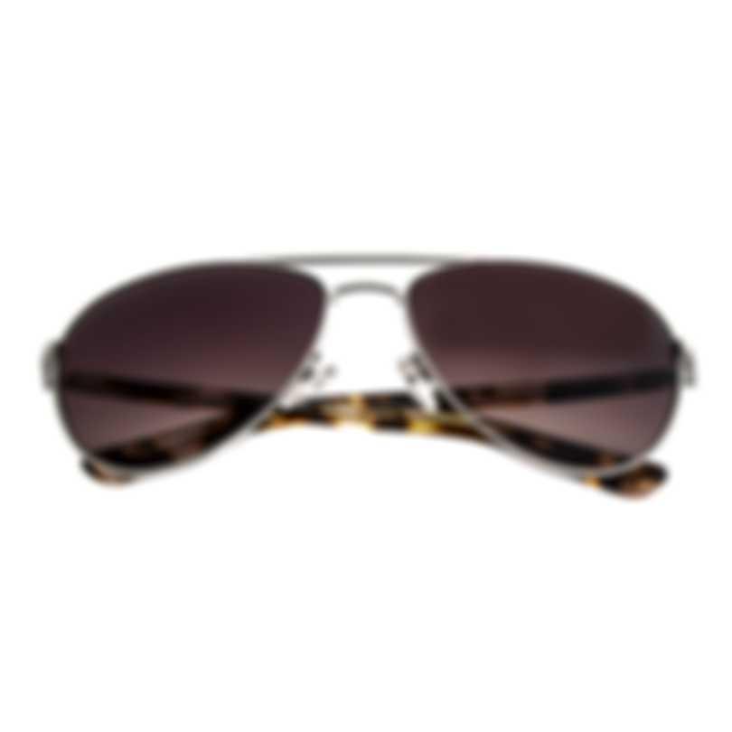 Oscar De La Renta Acetate Silver & Brown Aviator-style Sunglasses SSC4041CEI-045