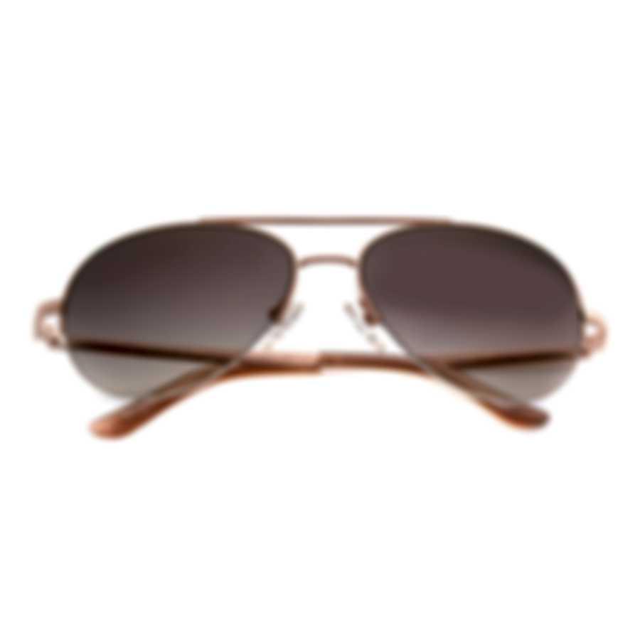 Oscar De La Renta Acetate Rose Gold Brown Aviator-style Sunglasses SSC4049CE-780