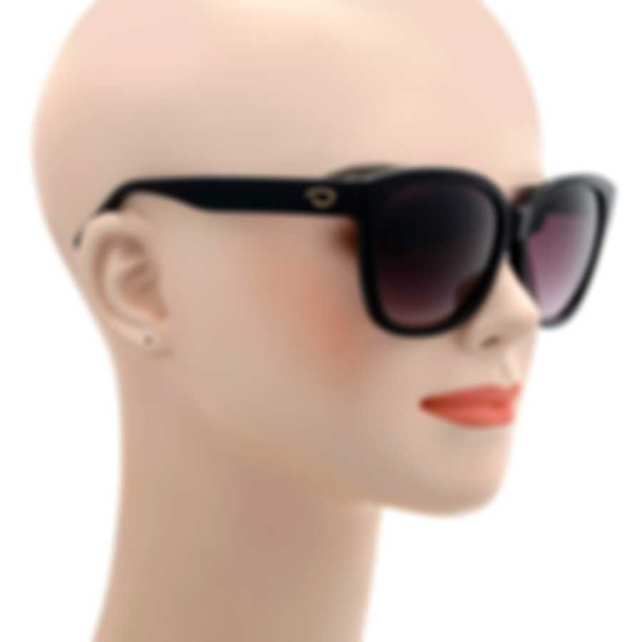 Oscar De La Renta Acetate Black Rose Gradient Oversize Sunglasses SSC5163CEI-001