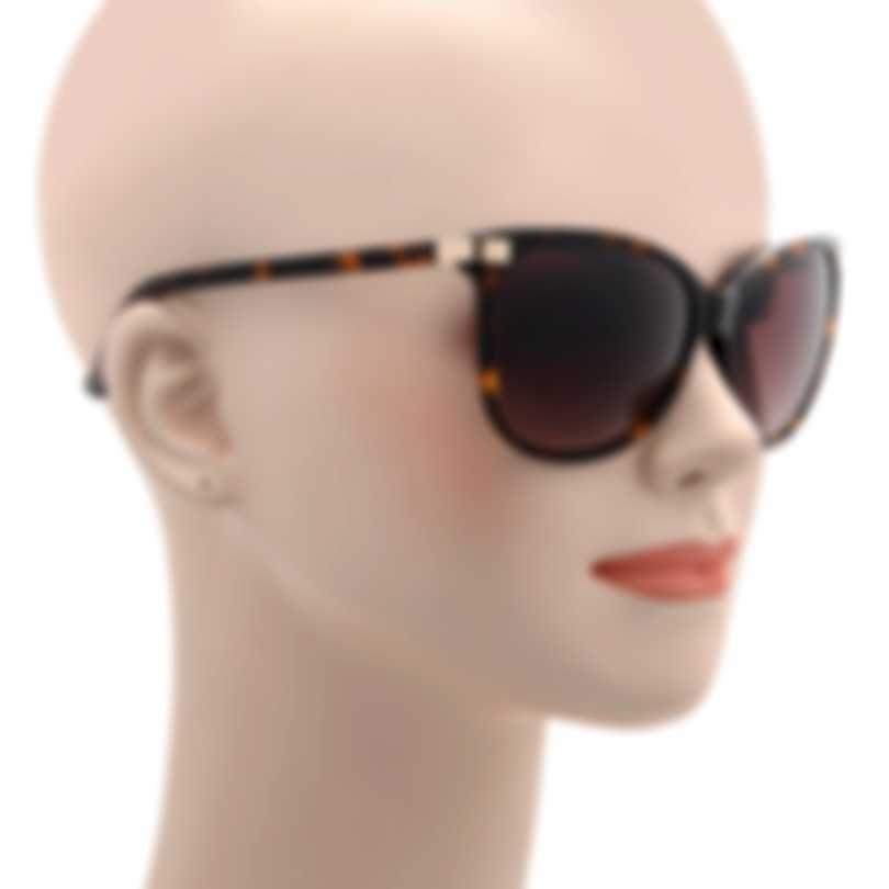 Oscar De La Renta Acetate Tortoise Shell Brown Cat Eye Sunglasses SSC5169CE-215