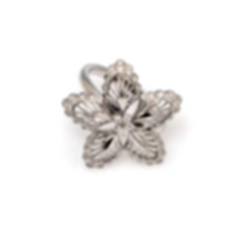 Lalique Lys 18k White Gold Diamond 0.26ct Ring Sz 8.25 10474000