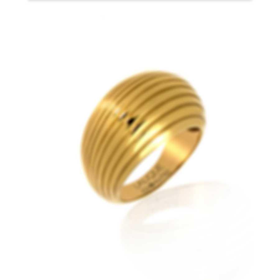 Lalique Vibrante 18k Yellow Gold Ring Sz 6.5 10208300