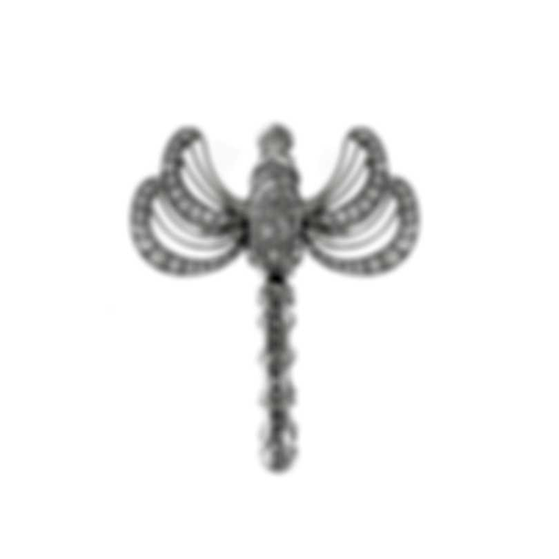 Lalique Libellule 18k White Gold Diamond 1.35ct Ring Sz 7.25 10277800