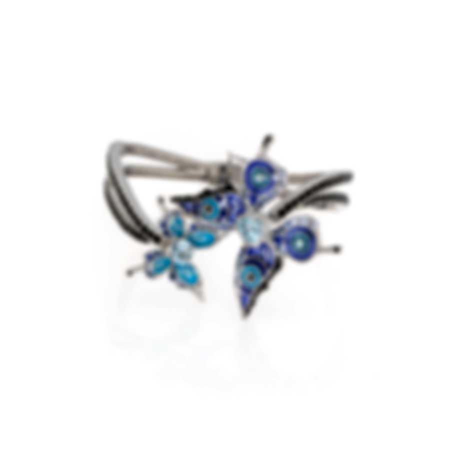 Lalique Psyche De Jour 18k White Gold Diamond And Sapphire Bracelet 10338400