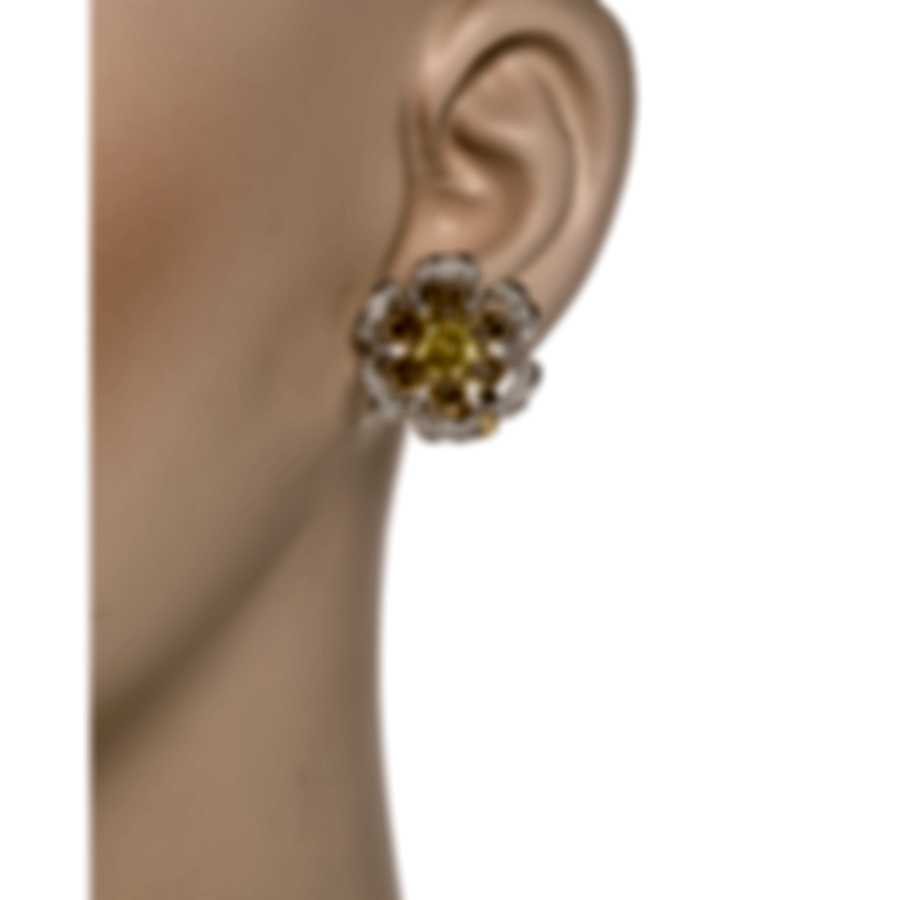 Luca Carati 18k Rose & White Gold Diamond 0.70ct Sapphire Earrings G1056BZ-C048