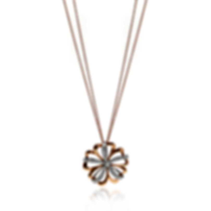 Luca Carati 18k Rose And White Gold Diamond 0.87ct Necklace G1105C-C529