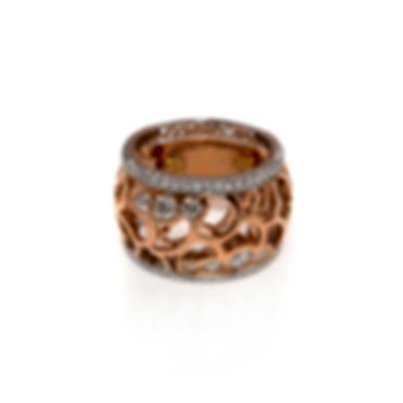 Luca Carati 18k Rose And White Gold Diamond 1.24ct Ring Sz 7 G867A-B818