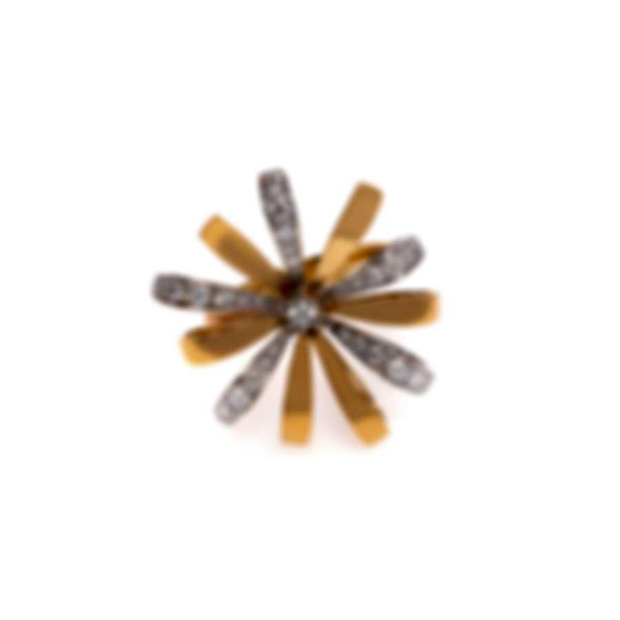 Luca Carati 18k Yellow Gold & 18k White Gold Diamond 0.62ct Ring Sz 7 G865A-B09F