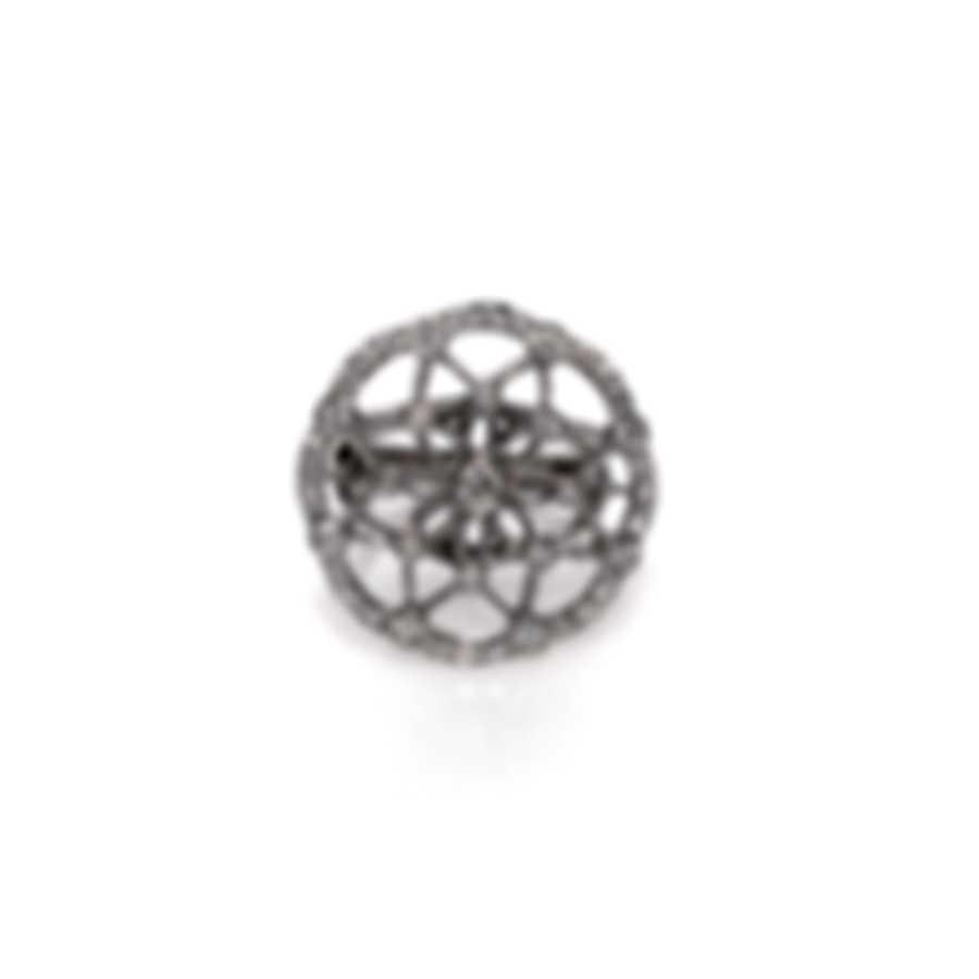 Luca Carati 18k White Gold Diamond 1.21ct Ring Sz 7 G883A-B326
