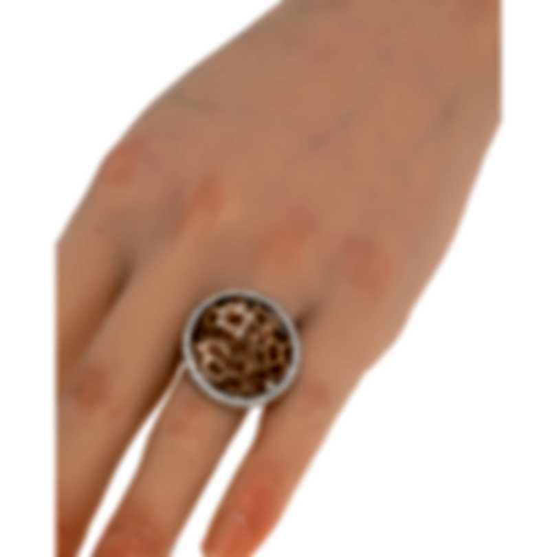 Luca Carati 18k White Gold & 18k Rose Gold Diamond 1.33ct Ring Sz 6.5 G882A-B892