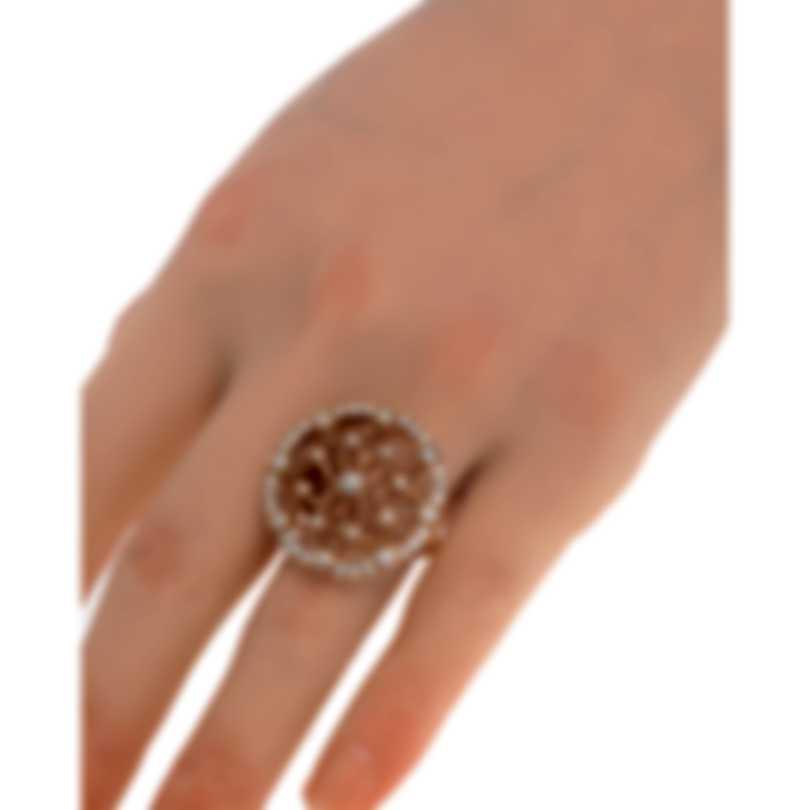 Luca Carati 18k Rose Gold Diamond 1.21ct Ring Sz 6.75 G899A-C312