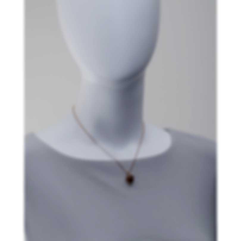 Luca Carati 18k Rose Gold Diamond 0.10ct And Citrine Necklace G941C-BEF3