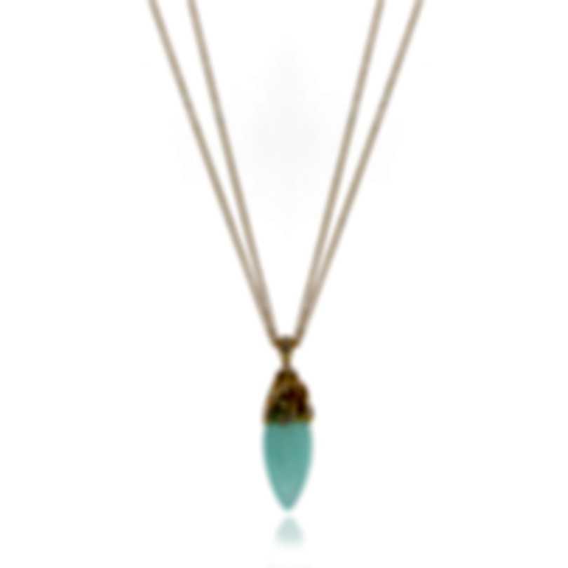 Luca Carati 18k Yellow Gold Diamond 0.45ct And Chalcedony Necklace G951C-B81B