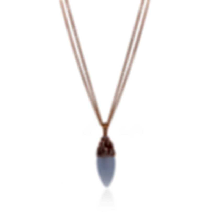 Luca Carati 18k Rose Gold Diamond 0.45ct And Chalcedony Necklace G930C-C1A3