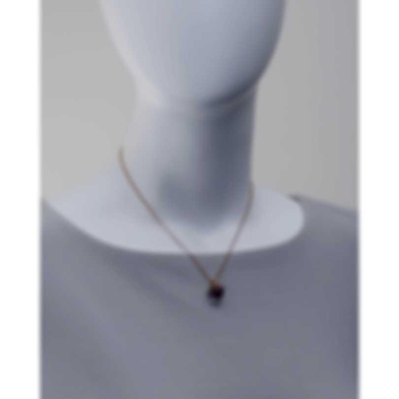Luca Carati 18k Rose Gold Diamond 0.21ct And Amethyst Necklace G935C-BD5B