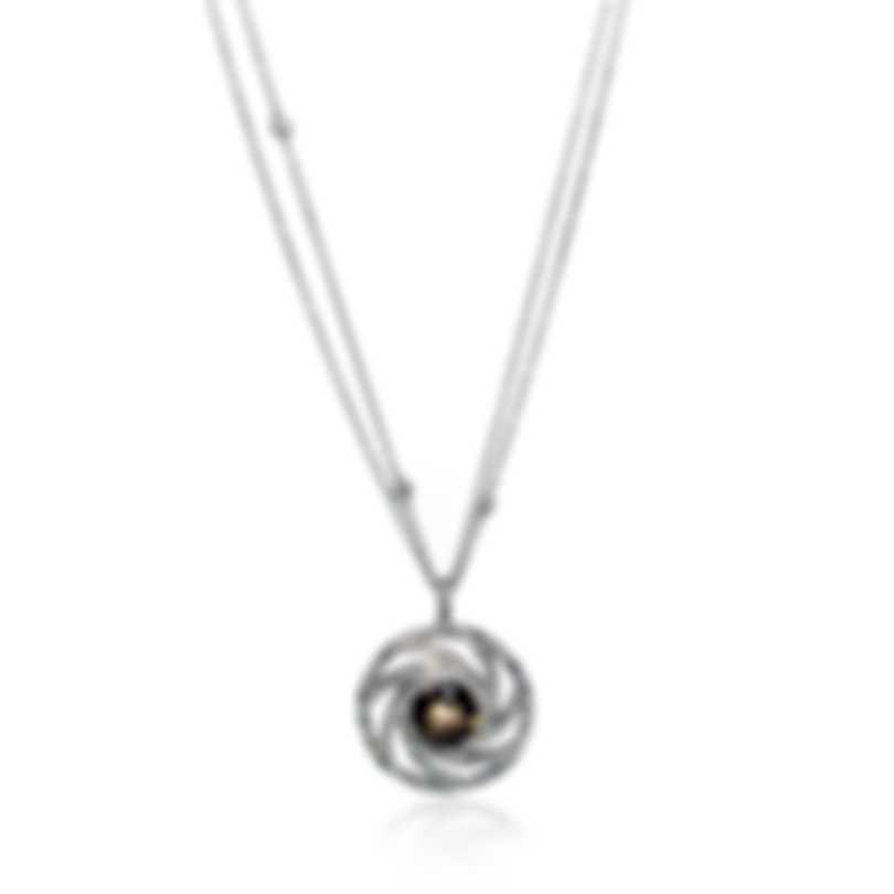 Luca Carati 18k White Gold Diamond 1.24ct And Smoky Quartz Necklace NG992C-BB2D
