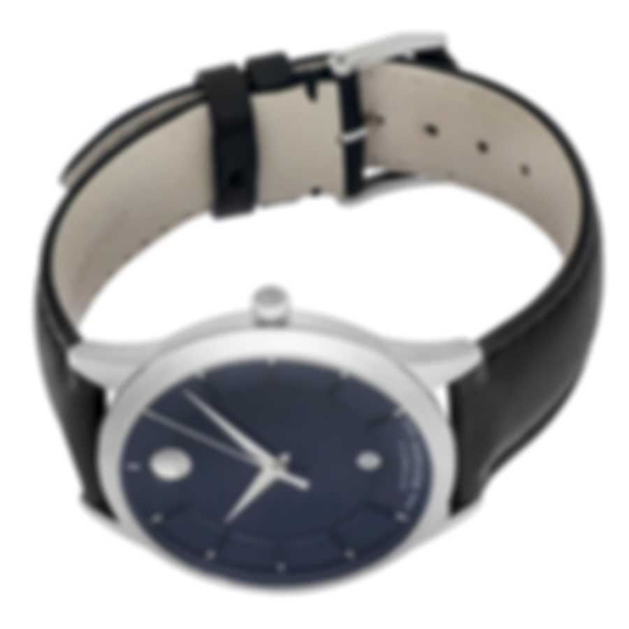 Movado 1881 Automatic Blue Dial Stainless Steel Automatic Men's Watch 606874