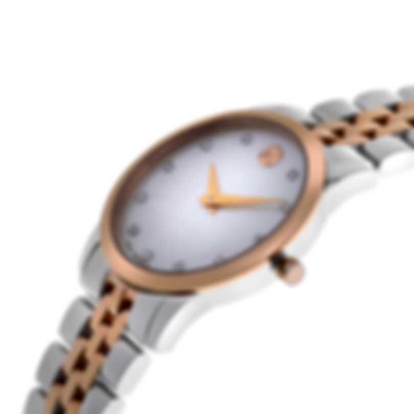 Movado Museum Classic Two Tone Quartz Ladies Watch 607077