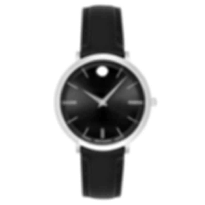 Movado Ultra Slim Stainless Steel Quartz Ladies Watch 607090