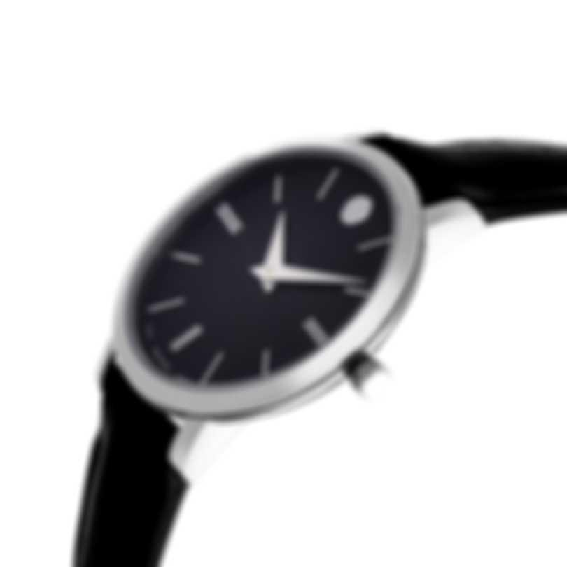 Movado Ultra Slim Stainless Steel Quartz Ladies Watch 607094