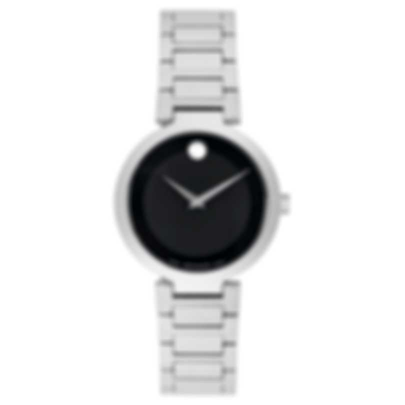 Movado Modern Classic Stainless Steel Quartz Ladies Watch 607101