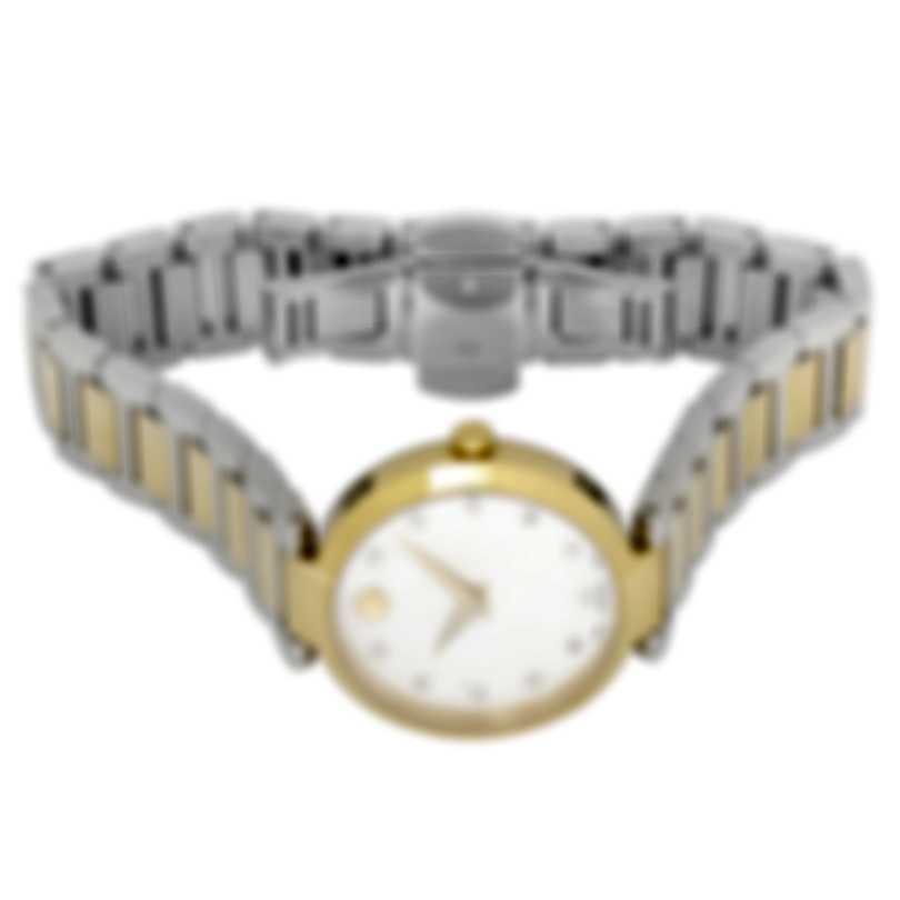 Movado Modern Classic Diamond Mother Of Pearl Quartz Ladies Watch 607103