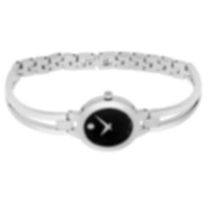 Movado Amorosa Stainless Steel Quartz Ladies Watch 607153