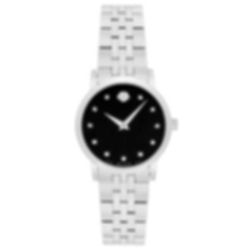 Movado Museum Classic Diamond Stainless Steel Quartz Ladies Watch 607207