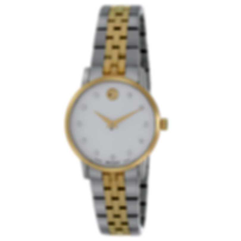 Movado Museum Two Tone Quartz Ladies Watch 607208