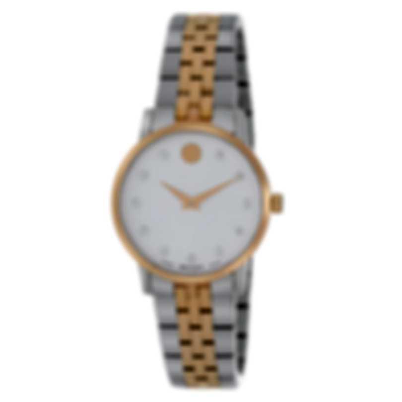 Movado Museum Diamond Two Tone Quartz Ladies Watch 607209