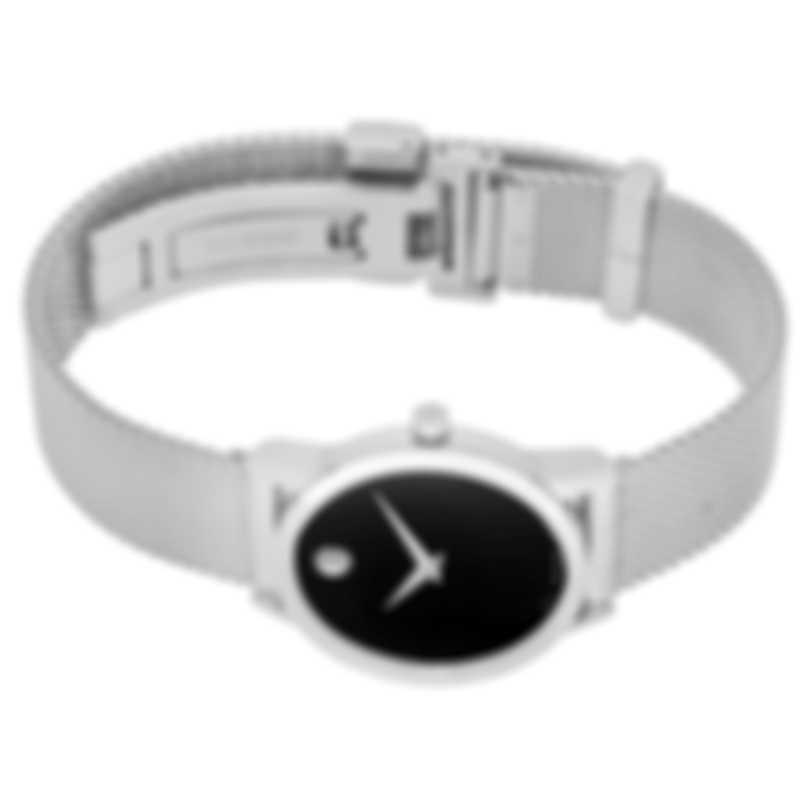 Movado Museum Classic Stainless Steel Quartz Ladies Watch 607220