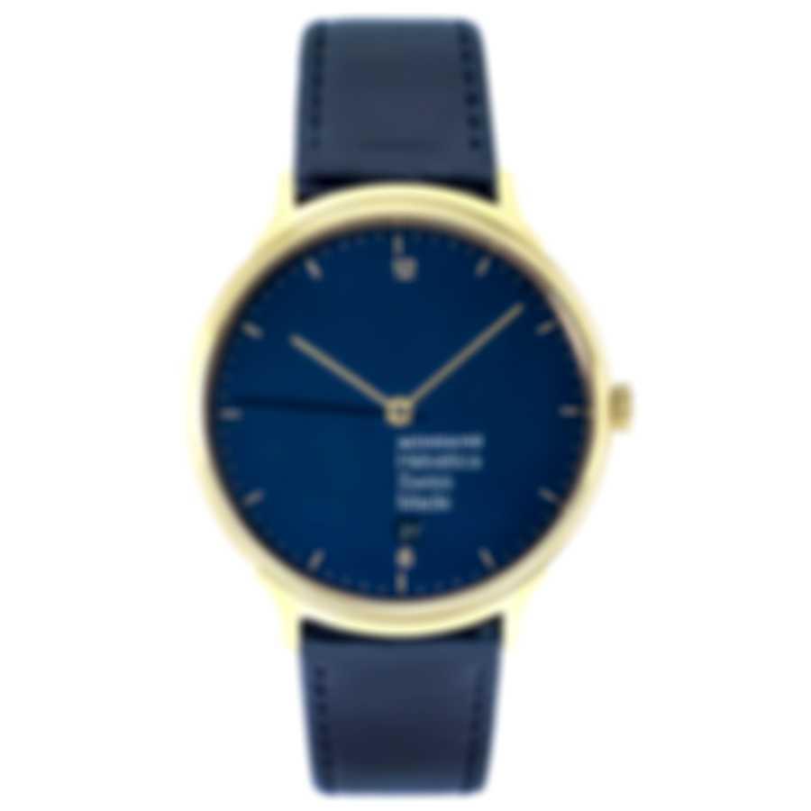 Mondaine Helvetica Blue Dial Quartz Ladies Watch MH1.L2241.LD