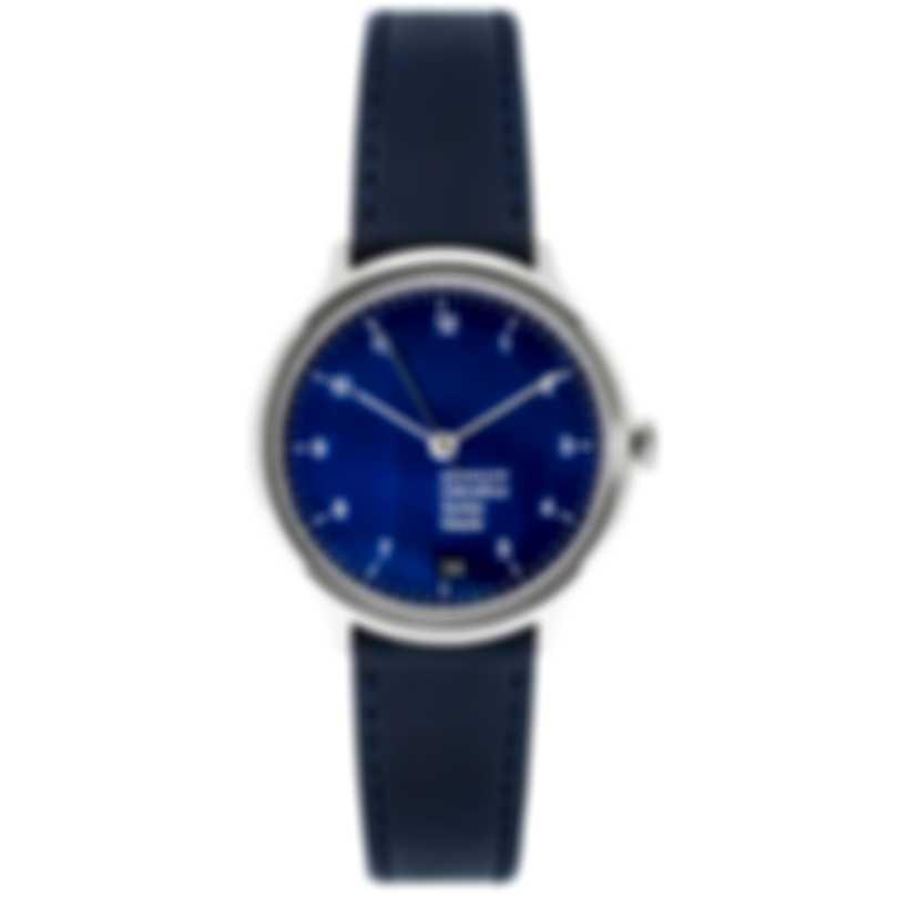 Mondaine Helvetica Blue Dial Quartz Ladies Watch MH1.R1240.LD