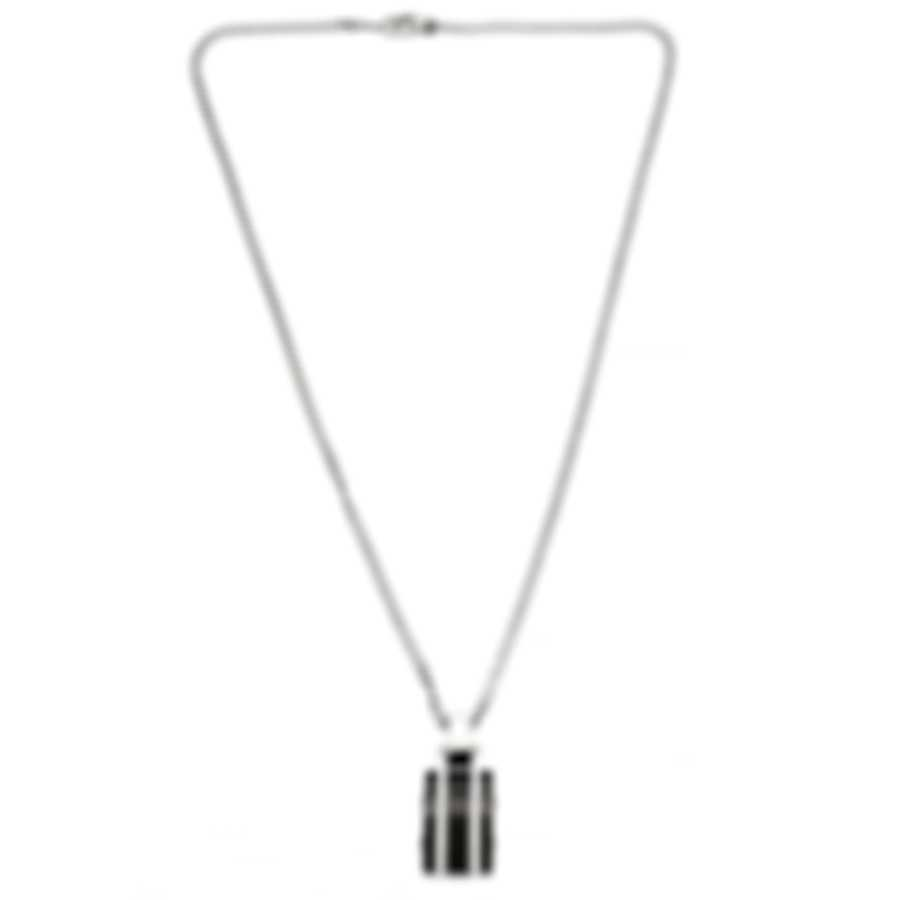 Montblanc Black & Silver Sterling Silver And Ceramic Necklace 102710