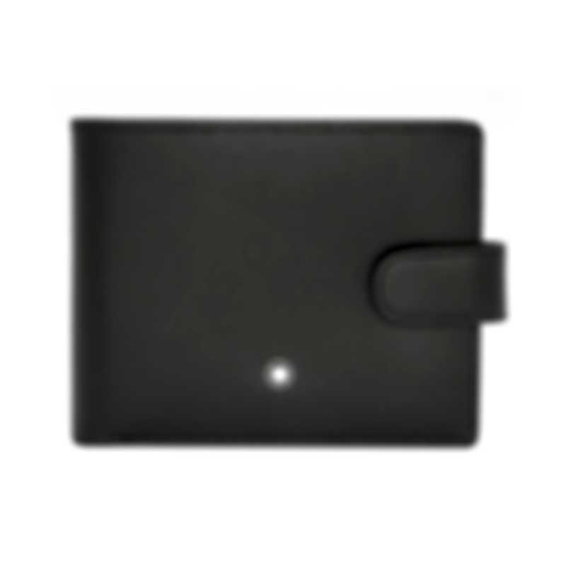 Montblanc Meisterstuck Black Leather And Viscose Wallet 102274