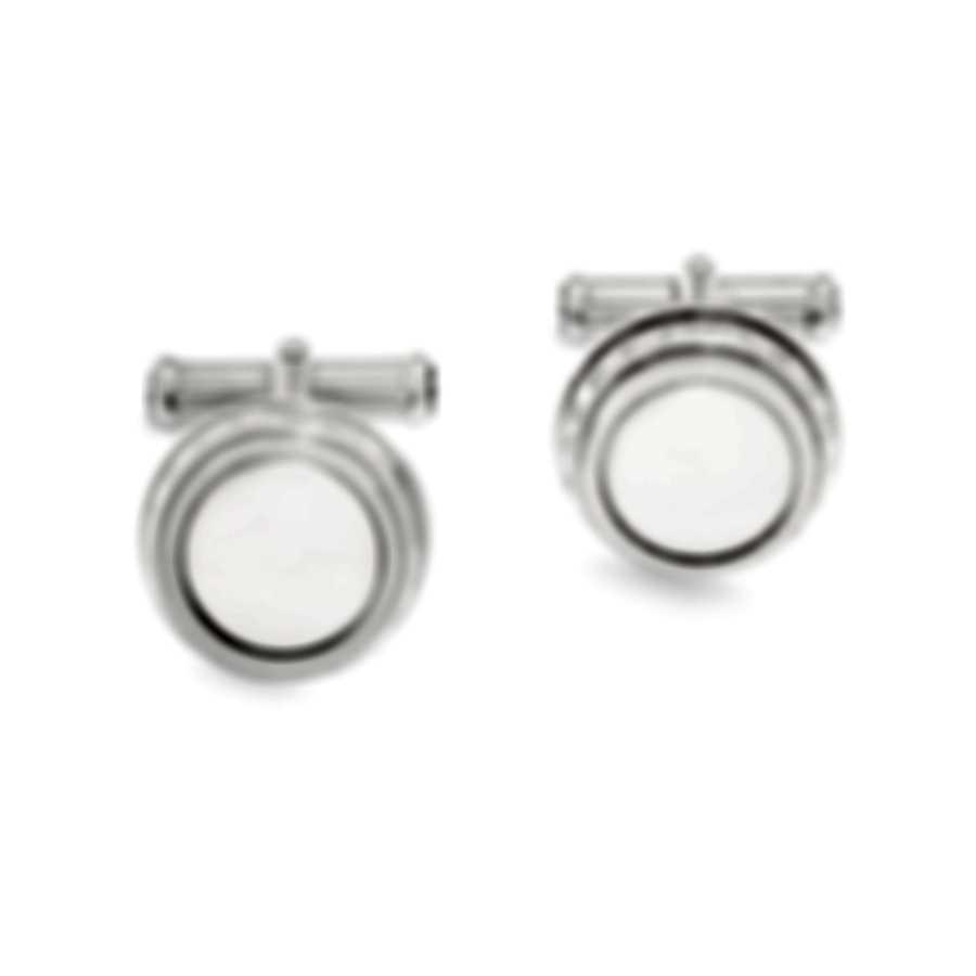 Montblanc Meisterstuck Silver Brass And Platinum Cufflinks 104496