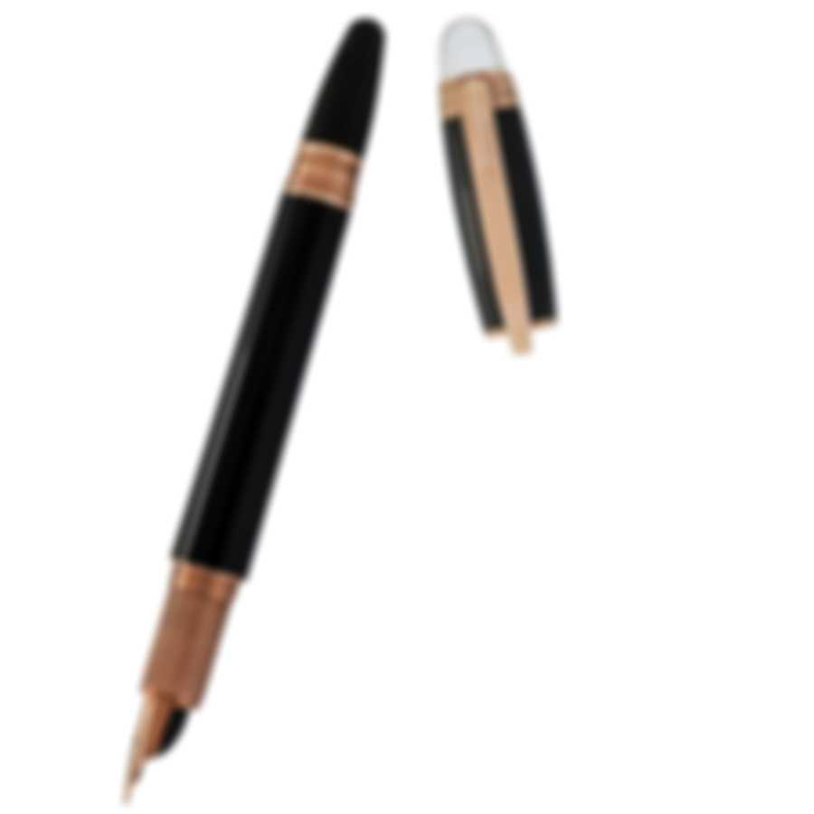Montblanc Starwalker Black & Gold Resin And Gold Fountain Pen 105651