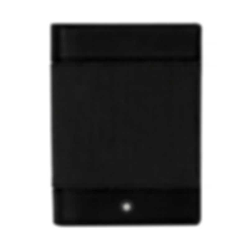 Montblanc Meisterstuck Black Canvas And Leather Pocket Holder 107637