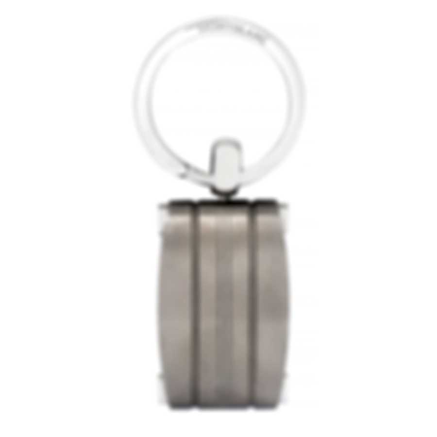 Montblanc Urban Walker Silver Stainless Steel And Titanium Key Chain 107907