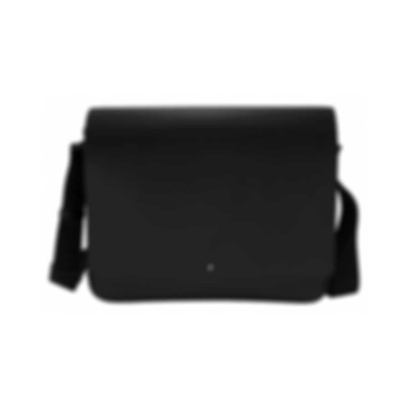 Montblanc Extreme Black Leather And Neoprene Messenger Bag 111136