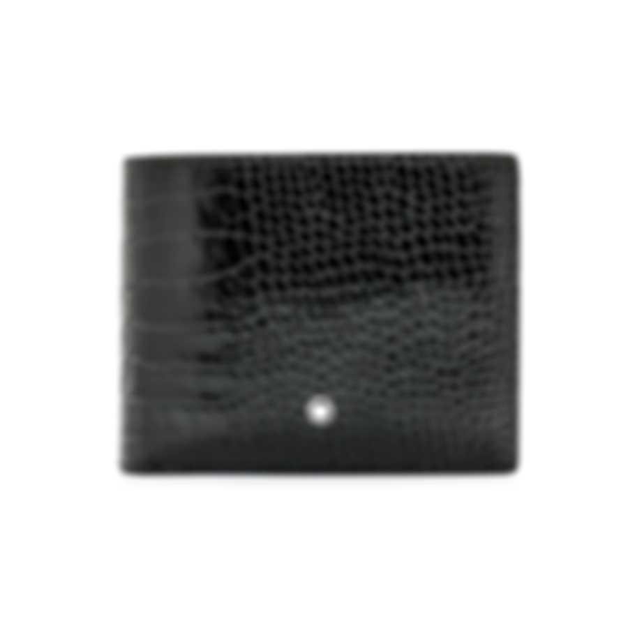 Montblanc Meisterstuck Mocha Leather And Jacquard Wallet 112592