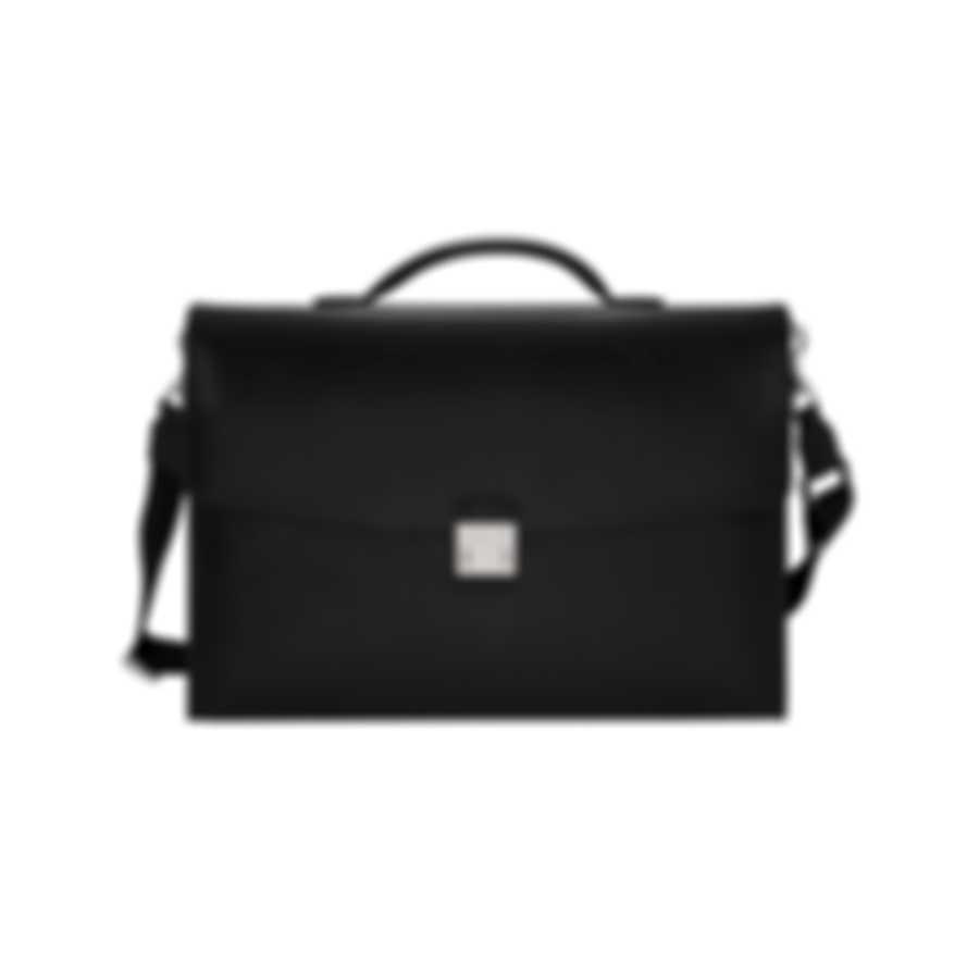 Montblanc Sartorial Black Leather Briefcase 113176